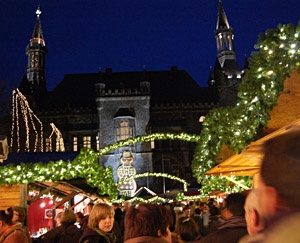 Kerstmarkt in Aken